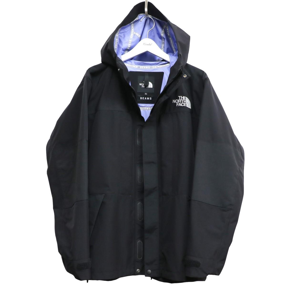 【中古】BEAMS×THE NORTH FACE 17AW Expedition Light Parkaライトジャケットマウンテンパーカー ブラック サイズ:XL 【020920】(ビームス×ザノースフェイス)