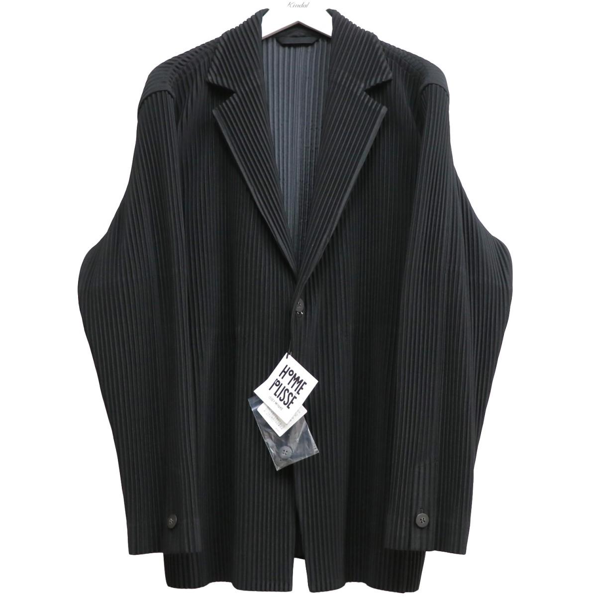 【中古】HOMME PLISSE ISSEY MIYAKE BASICSシーズンレスプリーツジャケット ブラック サイズ:3 【020920】(オム プリッセ イッセイミヤケ)