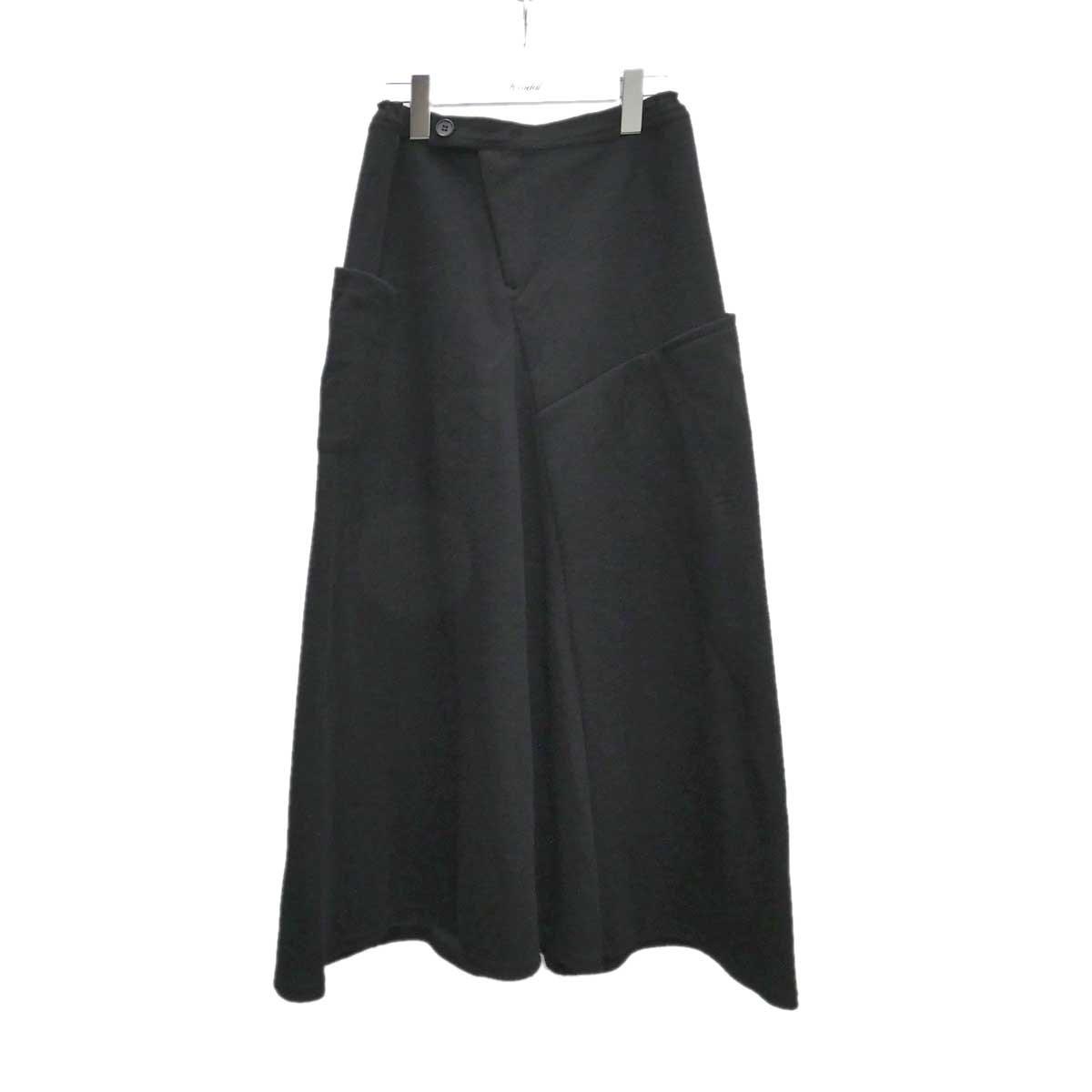 【中古】Ys ロングニットスカート ブラック サイズ:2 【040920】(ワイズ)