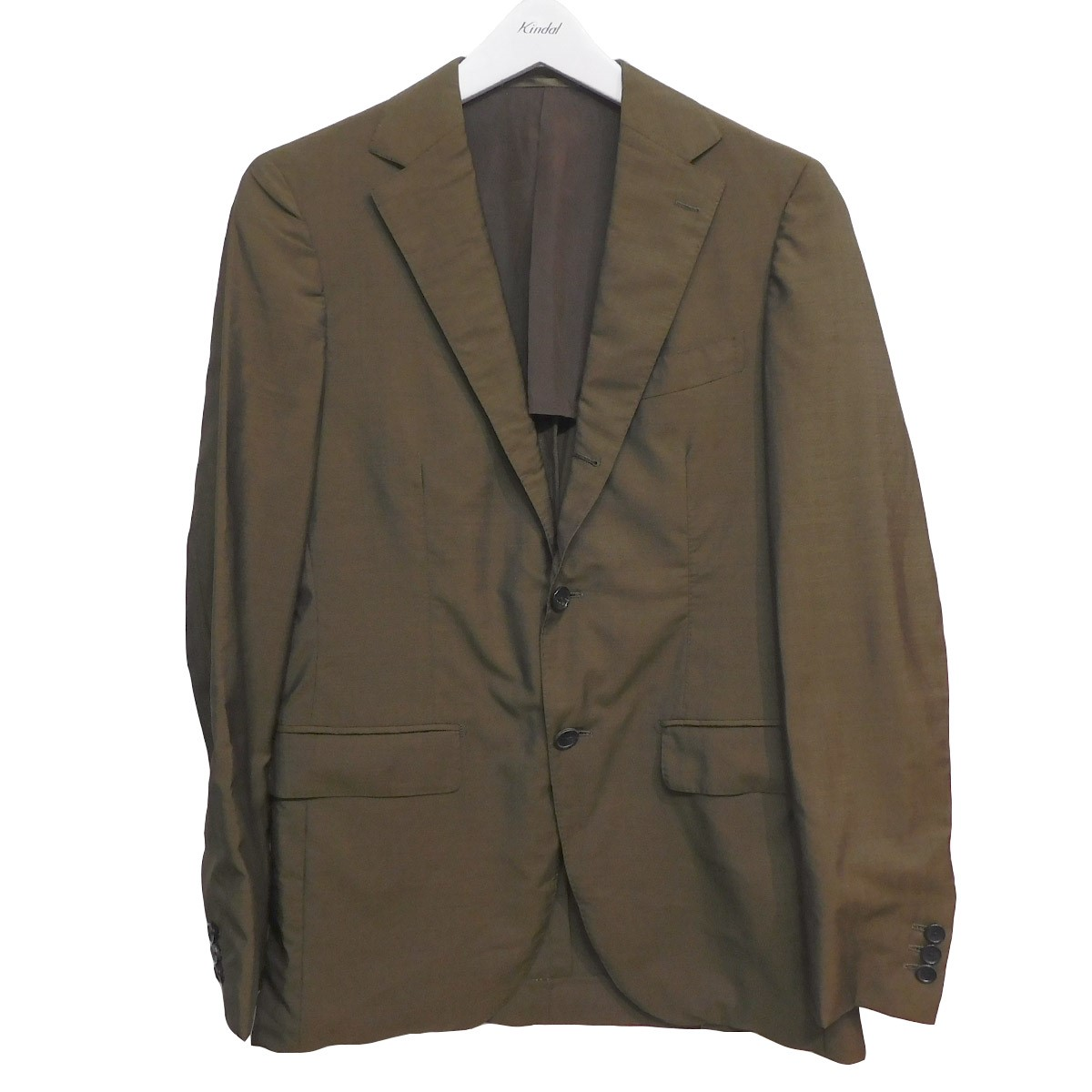 【中古】EDIFICE CANONICO/3Bセットアップ ジャケット スラックス スーツ ブラウン サイズ:46/46 【060920】(エディフィス)
