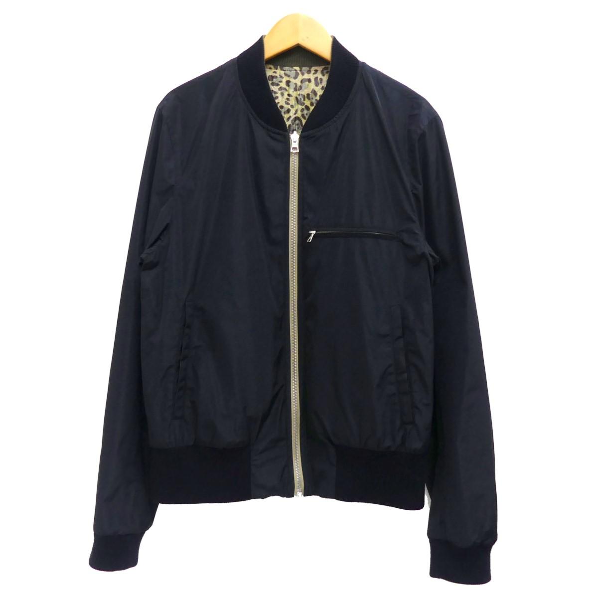 【中古】DRIES VAN NOTEN リバーシブルジップアップジャケット ネイビー サイズ:46 【070920】(ドリスヴァンノッテン)