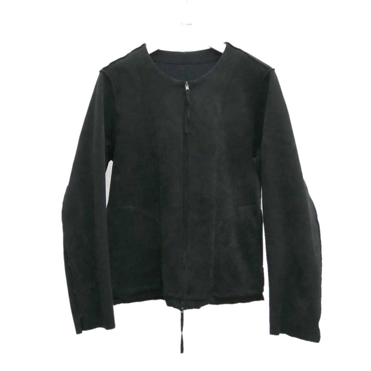 【中古】bukht リバーシブルノーカラージャケット B-66510 ブラック サイズ:0(S) 【070920】(ブフト)
