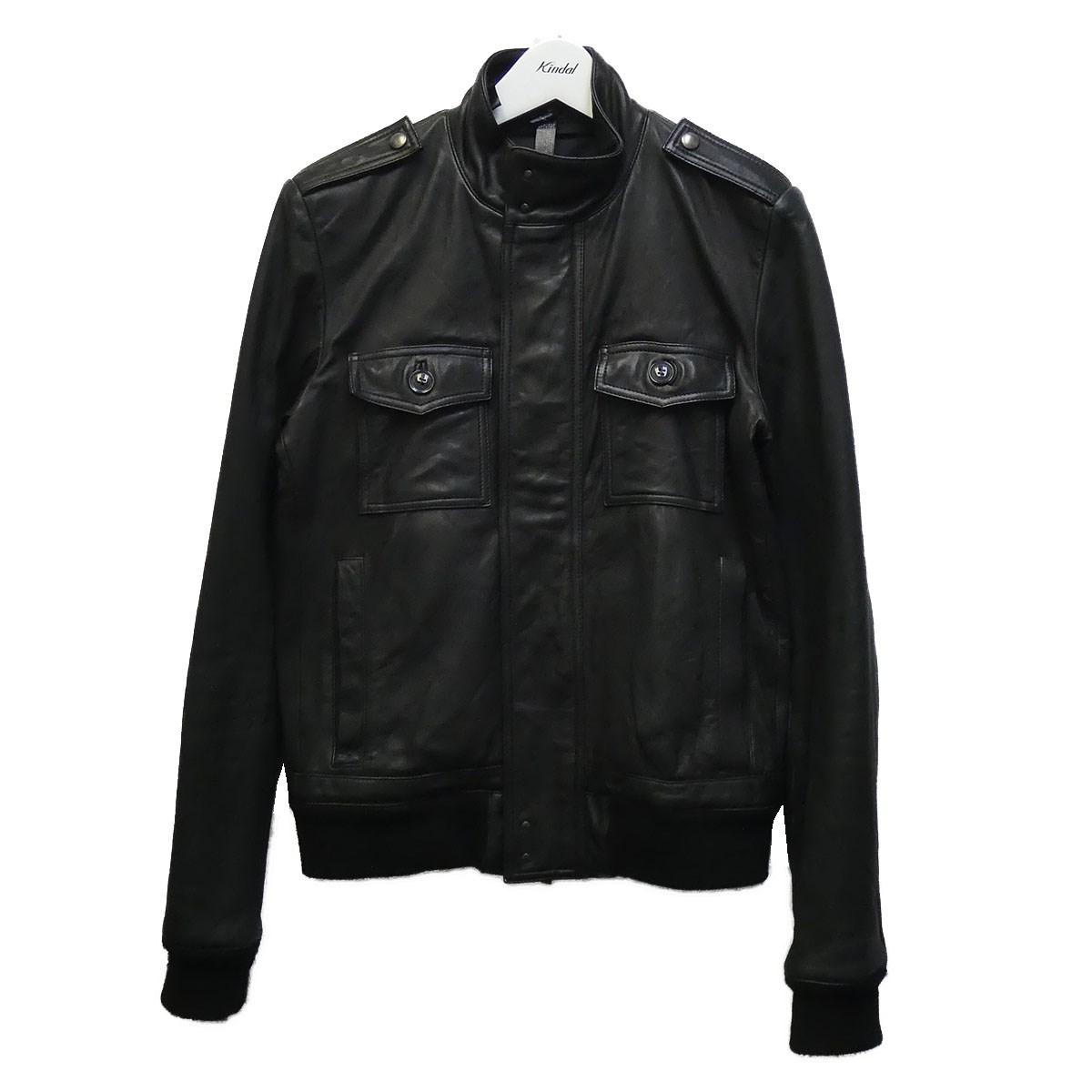 【中古】wjk ラムレザージャケット ブラック サイズ:S 【070920】(ダブルジェイケイ)