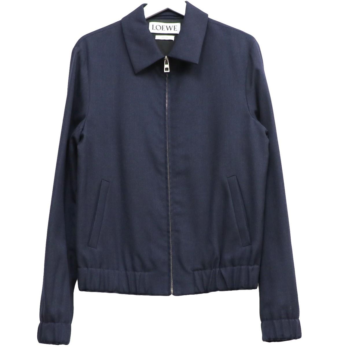 【中古】LOEWE Zip Blouson Jacketジップスウィングトップジャケット ネイビー サイズ:46 【070920】(ロエベ)
