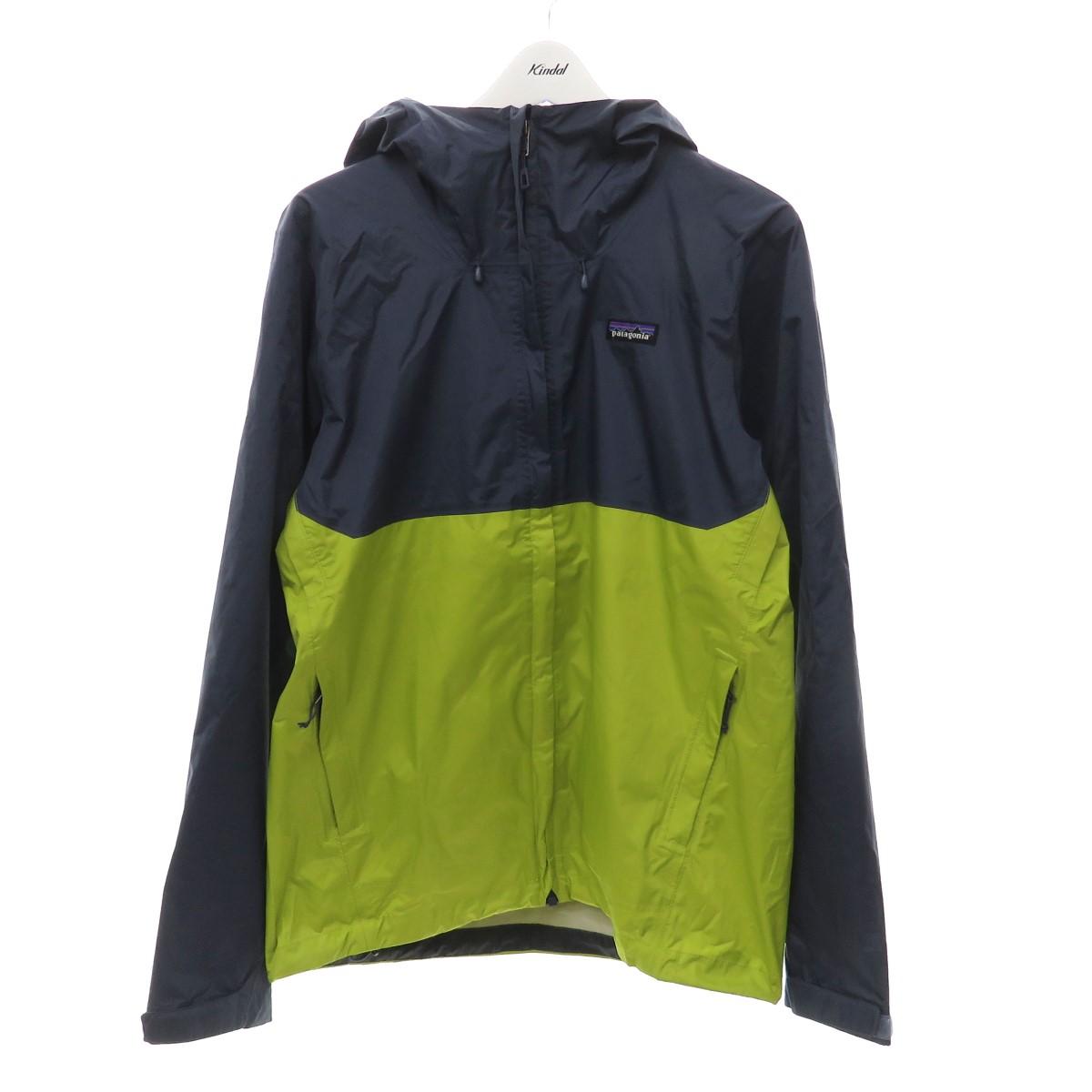 【中古】patagonia Torrentshell Jacket トレントシェルジャケット 83802 ネイビー×グリーン サイズ:M 【090920】(パタゴニア)