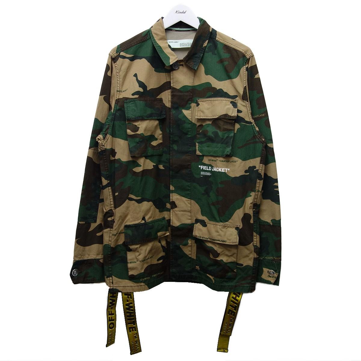 【中古】OFFWHITE OMEL003E18026010 18AW「Military Field Jacket」ジャケット カーキ サイズ:S 【090920】(オフホワイト)