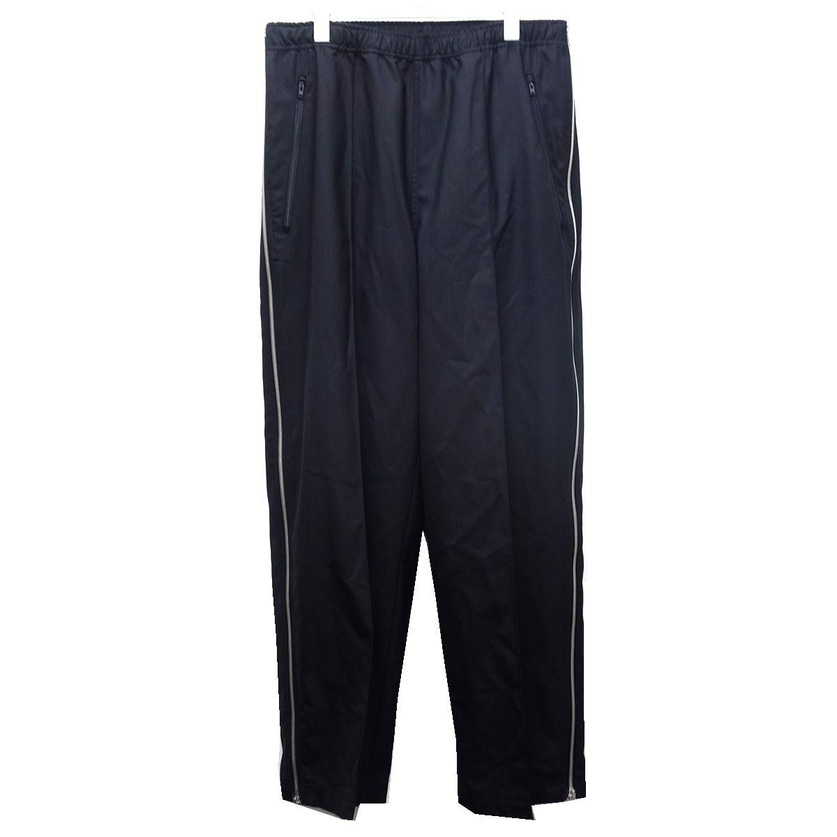 【中古】Maison Margiela 10 19SS「WOOL POPELINE SIDE ZIP PANTS」ウールポプリンサイドジップパンツ ブラック サイズ:46 【090920】(メゾンマルジェラ)