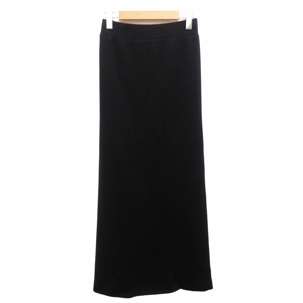 【中古】DEUXIEME CLASSE 19SS PAN ニット スカート ブラック サイズ:F 【100920】(ドゥーズィエムクラス)