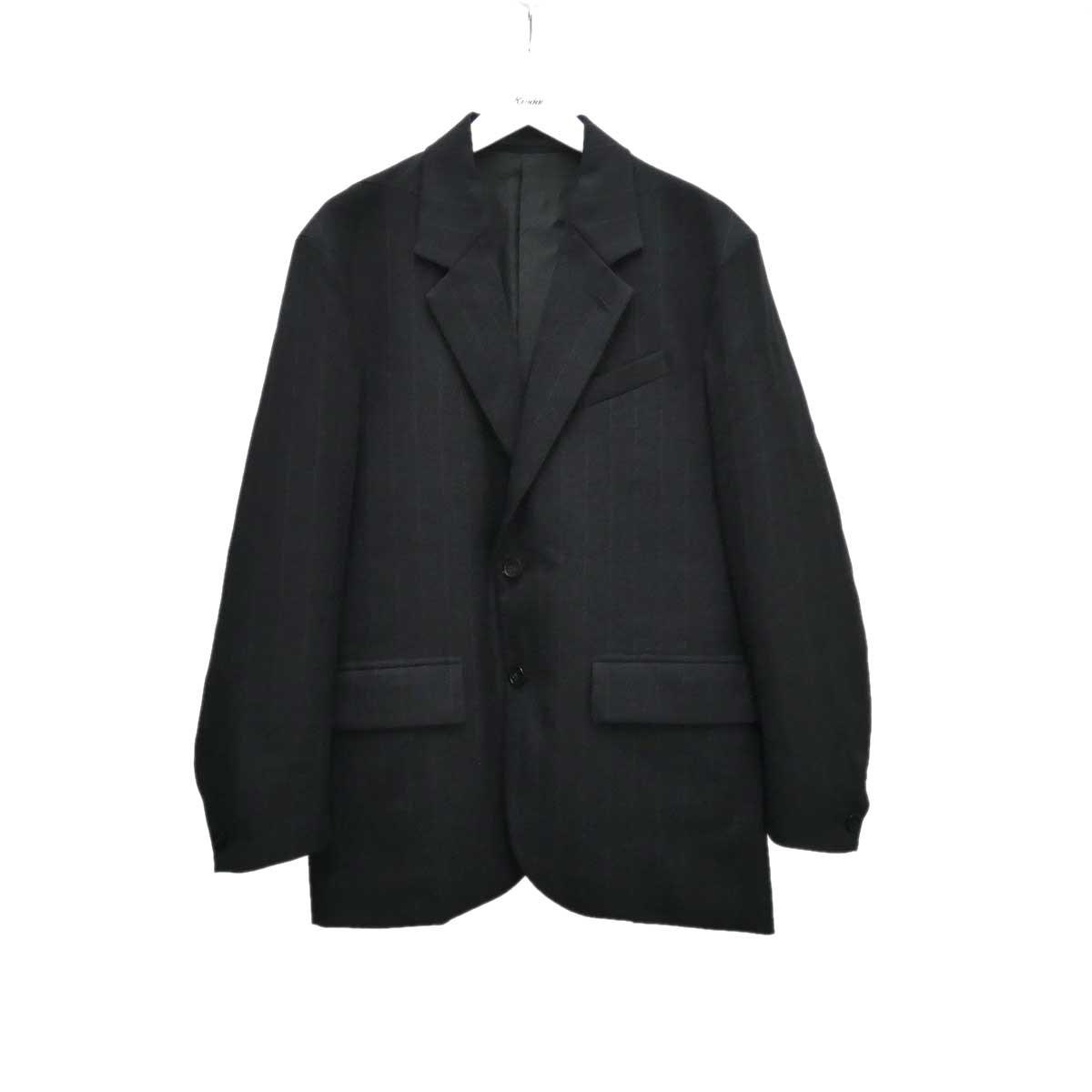 【中古】MAINU ストライプジャケット ブラック サイズ:2 【100920】(マイヌ)