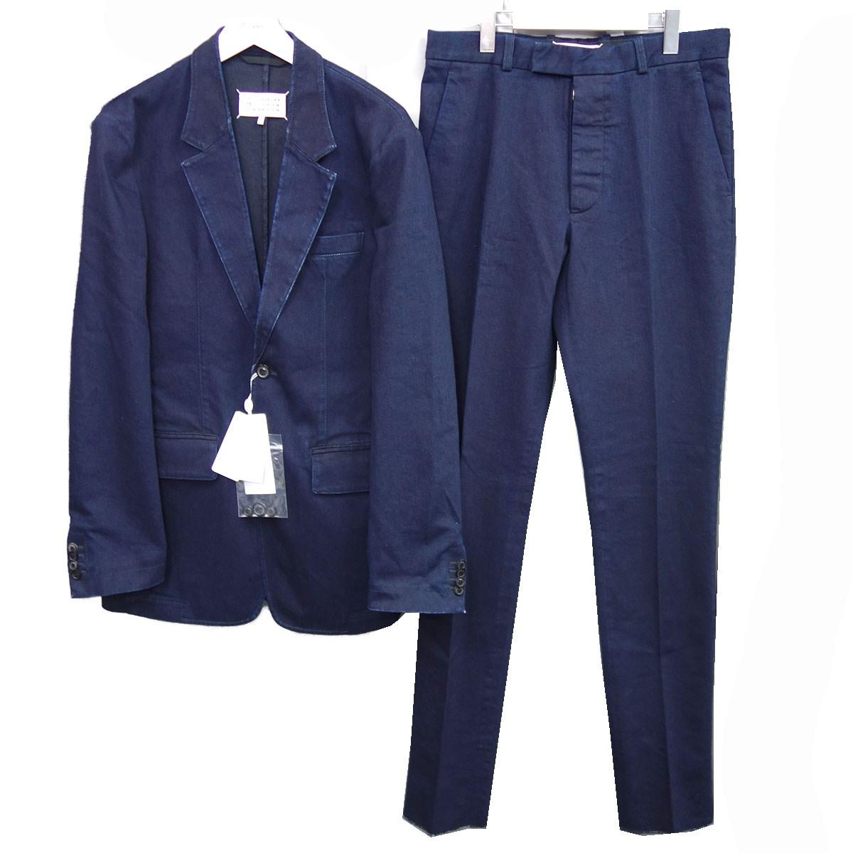 【中古】Maison Margiela 10 20SS「Stretch Denim Suits」デニムセットアップスーツ インディゴ サイズ:46/46 【140920】(メゾンマルジェラ)