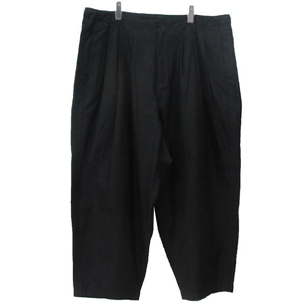 【中古】YOHJI YAMAMOTO pour homme 12タック 紐パン ワイドパンツ ブラック サイズ:2 【160920】(ヨウジヤマモトプールオム)