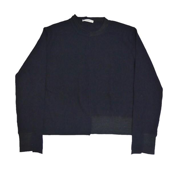 【中古】CELINE カシミヤ ブレンド セーター ネイビー×ブラック サイズ:S 【160920】(セリーヌ)
