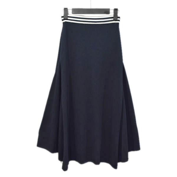 【中古】BORDERS AT BALCONY 18SS リブスカート ニットスカート ネイビー サイズ:36 【170920】(ボーダーズアットバルコニー)
