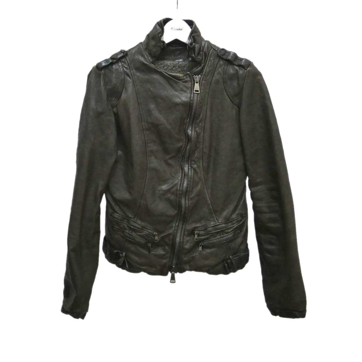 【中古】GIORGIO BRATO レザージャケット 羊革 ダークブラウン サイズ:40 【180920】(ジョルジオブラット)