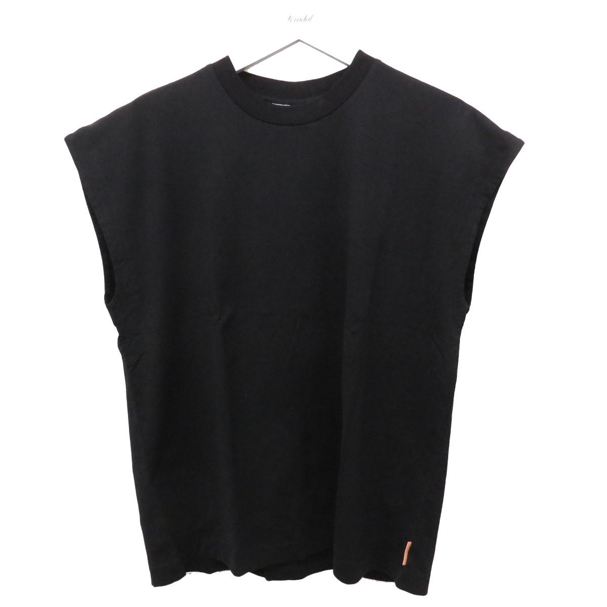 【中古】ACNE STUDIOS ERICK PINK LABEL T SHIRTS ノースリーブTシャツ ブラック サイズ:XXS 【190920】(アクネストゥディオズ)