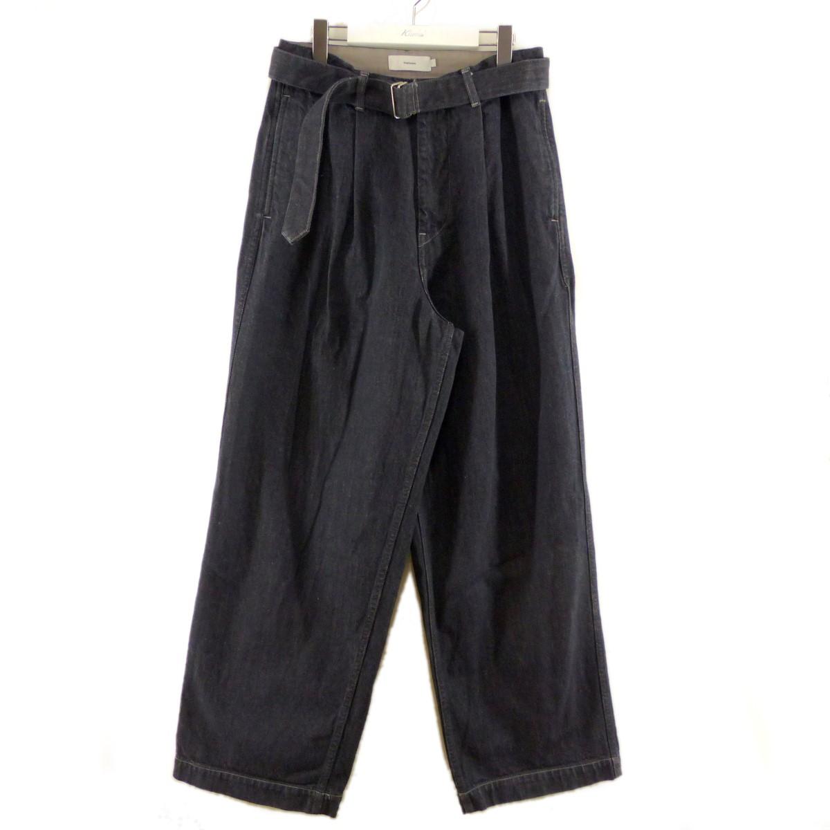 【中古】Graphpaper 20AW Colorfast Denim Belted Pants インディゴ サイズ:1 【190920】(グラフペーパー)