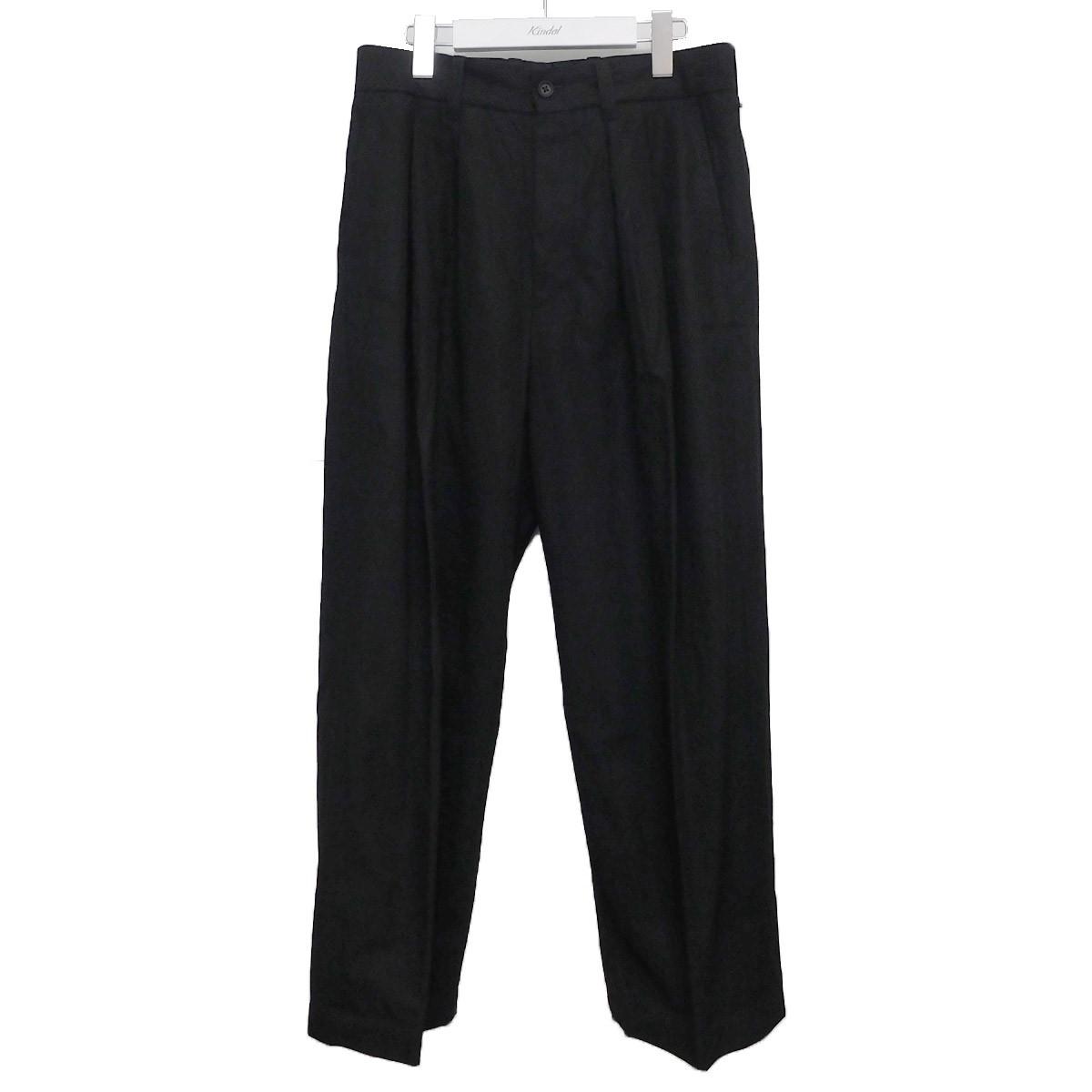 【中古】stein 2020SS WIDE STRAIGHT TROUSERS PANTS タックパンツ ブラック サイズ:S 【200920】(シュタイン)