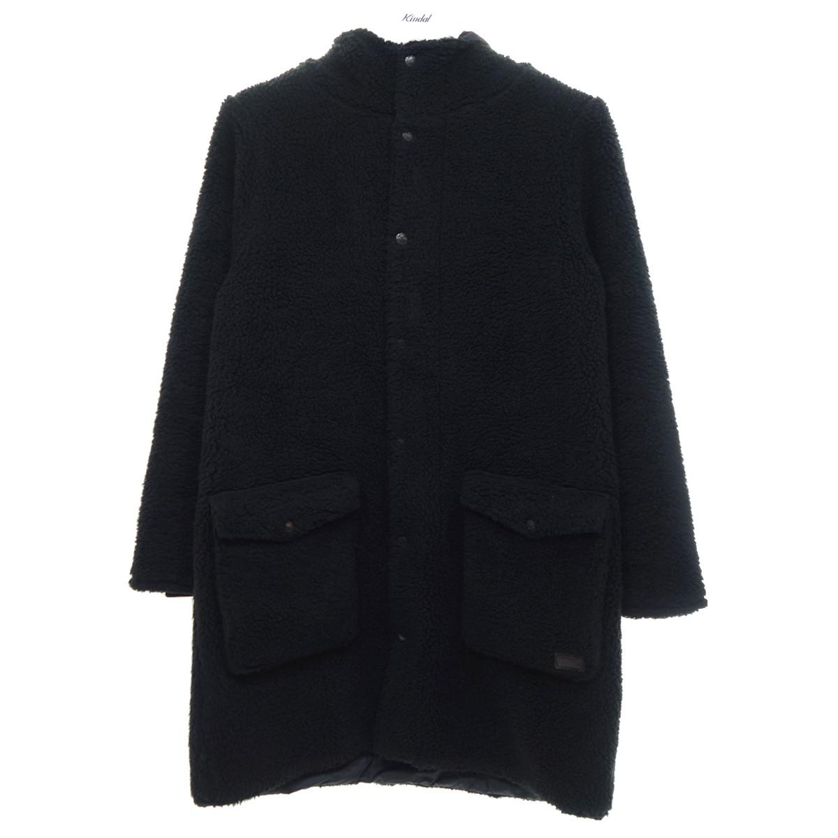 【中古】ARMEN FLEECE FRONT ZIP&SNAP フーデッドコート ブラック サイズ:0 【210920】(アーメン)