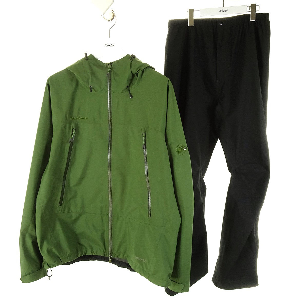 マムート 商品追加値下げ在庫復活 中古 予約販売品 MAMMUTCLIMATE Rain-Suit レインスーツ オリーブ×ブラック サイズ:XL XL 1月25日見直し