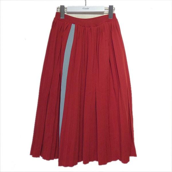 【中古】MARNI サイドラインプリーツスカート レッド サイズ:38 【210920】(マルニ)