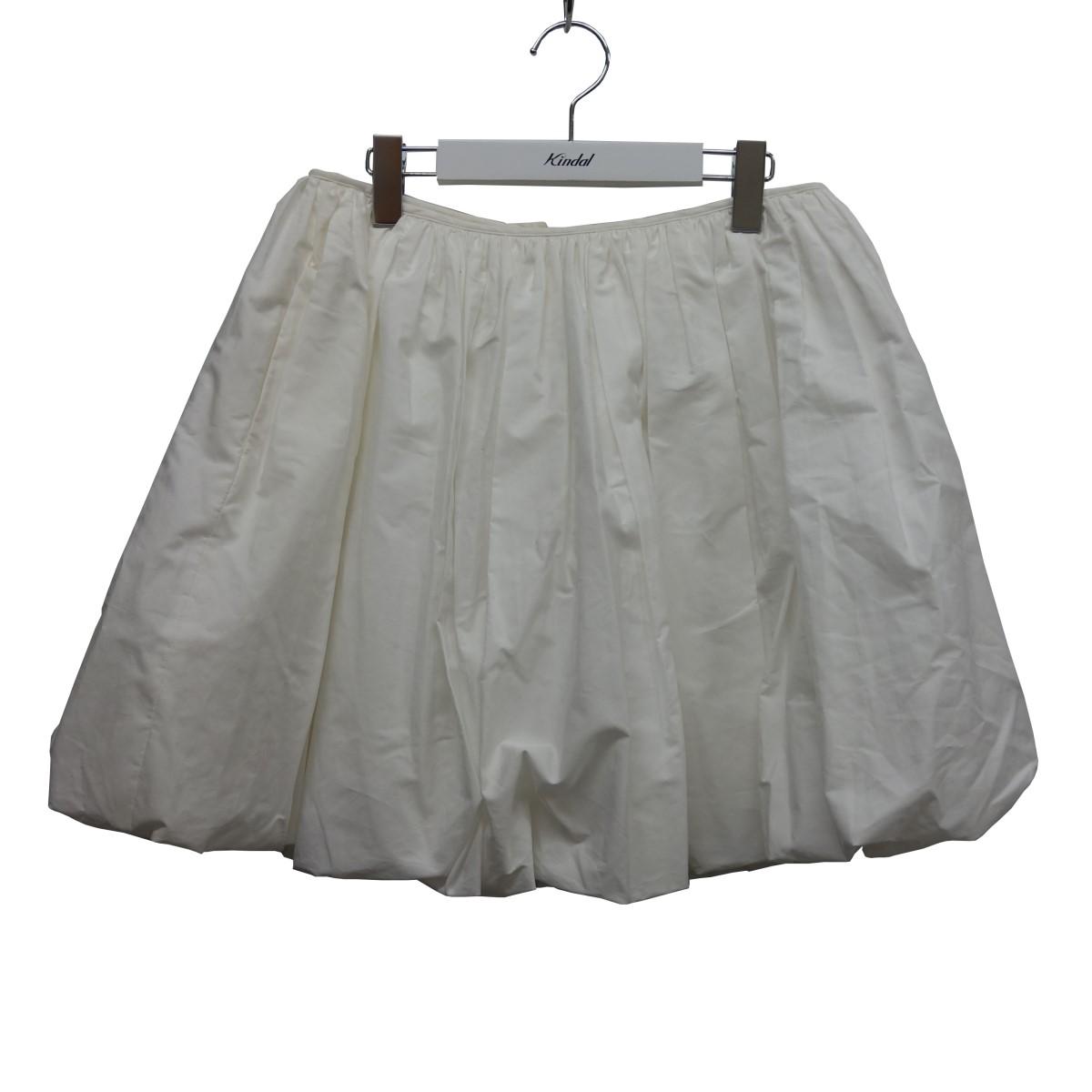 【中古】JIL SANDER バルーンスカート ホワイト サイズ:34 【220920】(ジルサンダー)