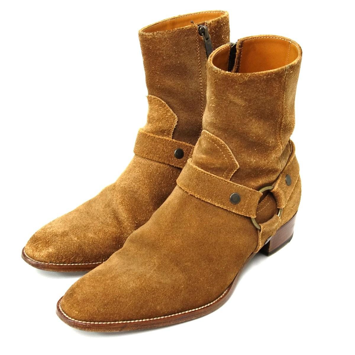 人気が高い 【】SAINT LAURENT ワイアットハーネススウェードリングブーツ PARIS 15SS PARIS 15SS 379755【】SAINT ワイアットハーネススウェードリングブーツ ベージュ サイズ:39 1/2(24.5cm)【230920】(サンローランパリ), Shoe Quest:29646a9b --- tts.ageofracing.com