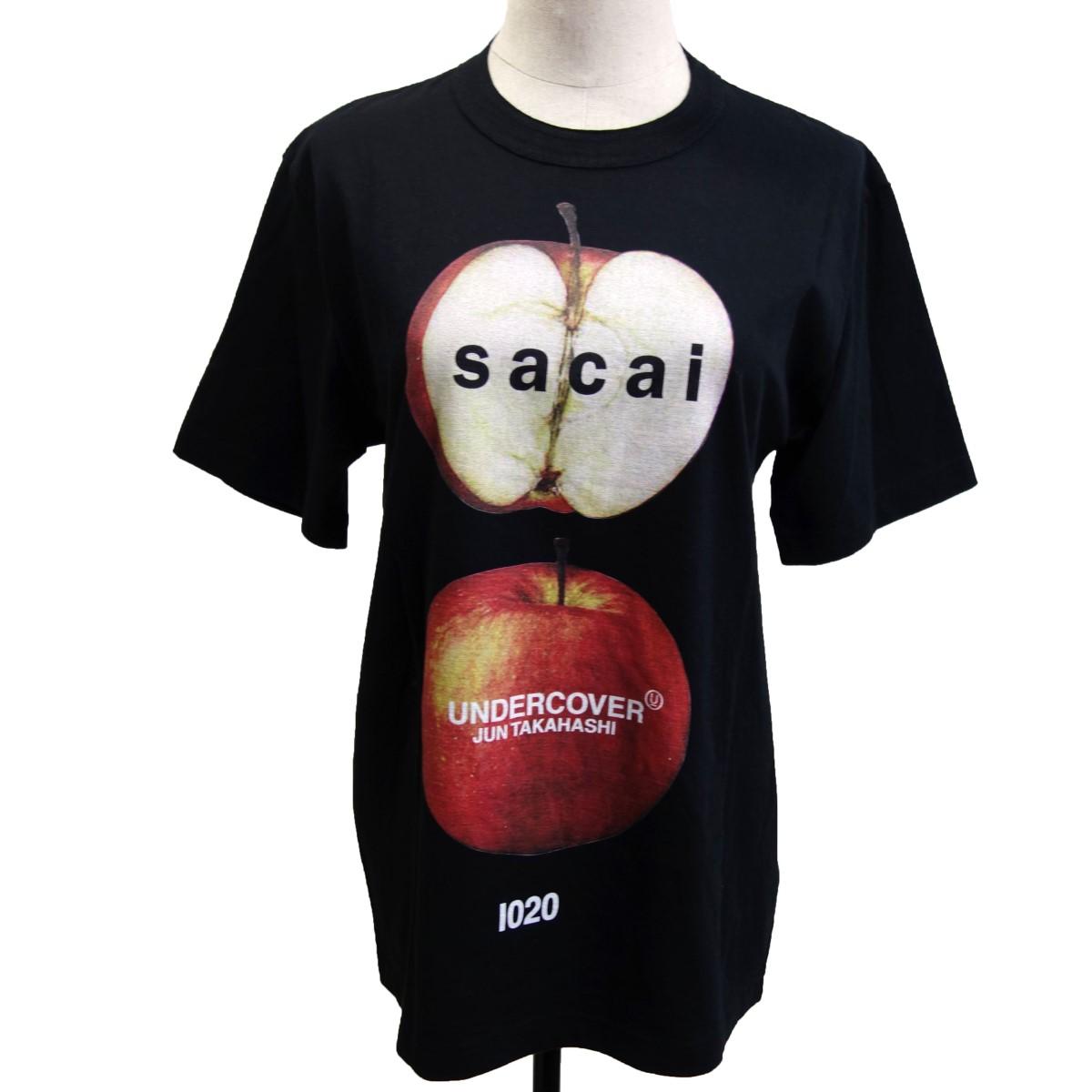 【中古】sacai×UNDER COVER 17AWプリントTシャツ ブラック サイズ:0 【240920】(サカイ×アンダーカバー)