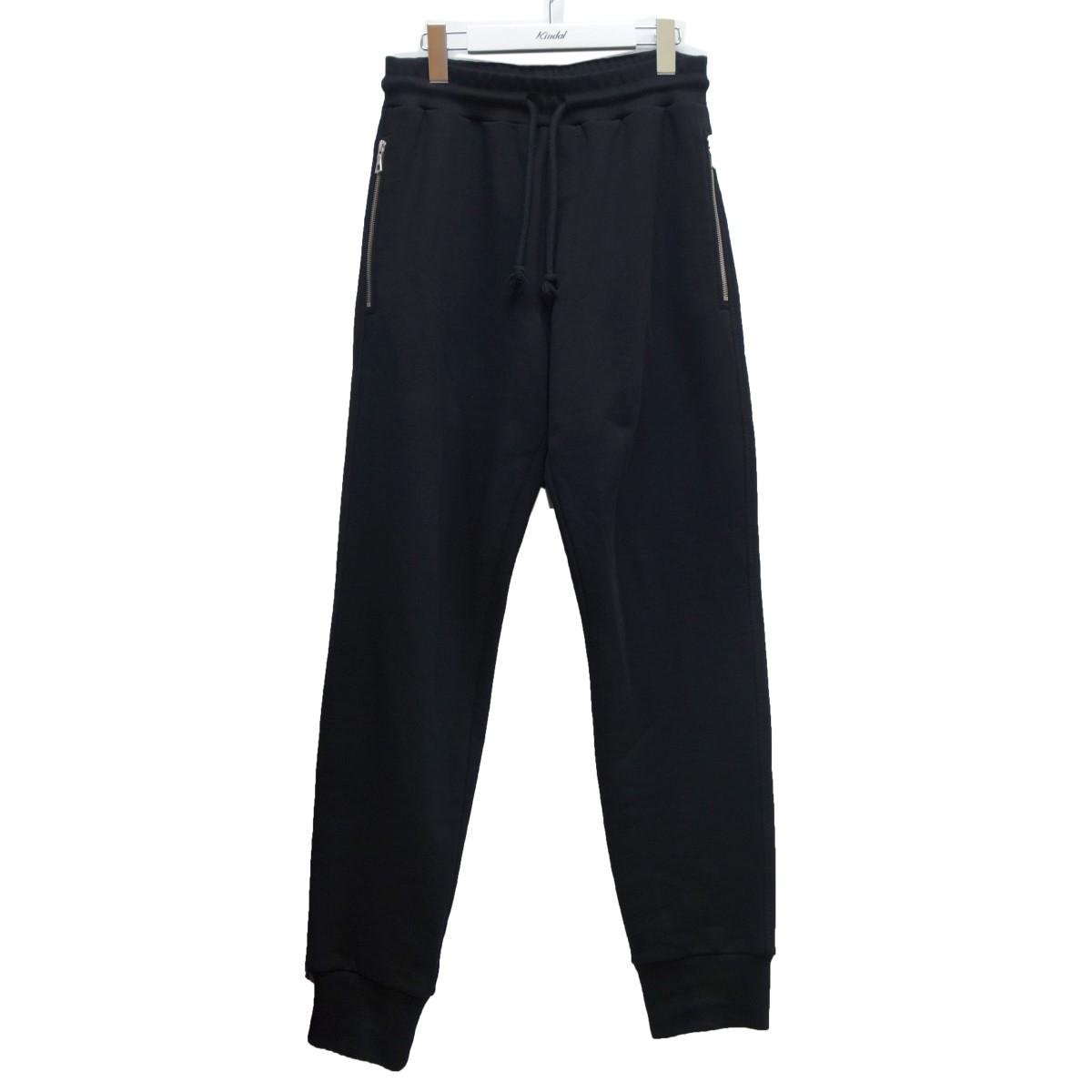 【中古】DRIES VAN NOTEN ジップポケットスウェットパンツ ブラック サイズ:S 【250920】(ドリスヴァンノッテン)