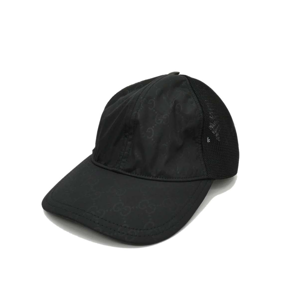 グッチ 中古 GUCCI ◇限定Special Price GG柄キャップ 041020 ブラック ブランド買うならブランドオフ サイズ:L