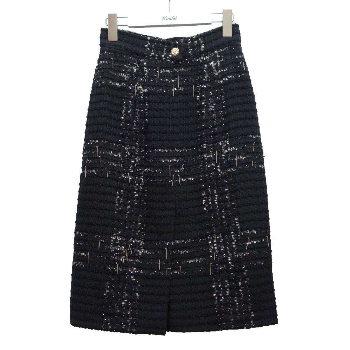 【クーポン対象外】 【】CHANEL ブラック チェーン装飾ツイードスカート【091020】(シャネル) ブラック サイズ:34【091020 サイズ:34】(シャネル), nisky:8e1a26ad --- delipanzapatoca.com