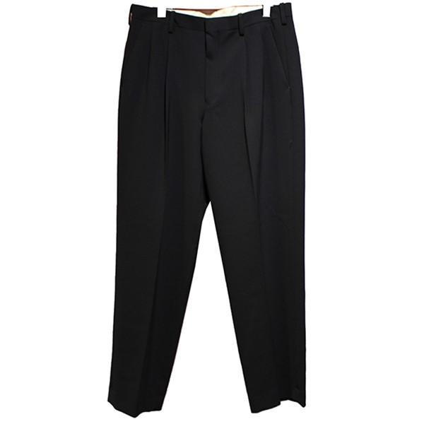 パンツ 復刻 2TUCK SLACKS ブラック サイズ:40 【141120】(エヌハリウッド) 20AW 2タックスラックス 【中古】N.HOOLYWOOD