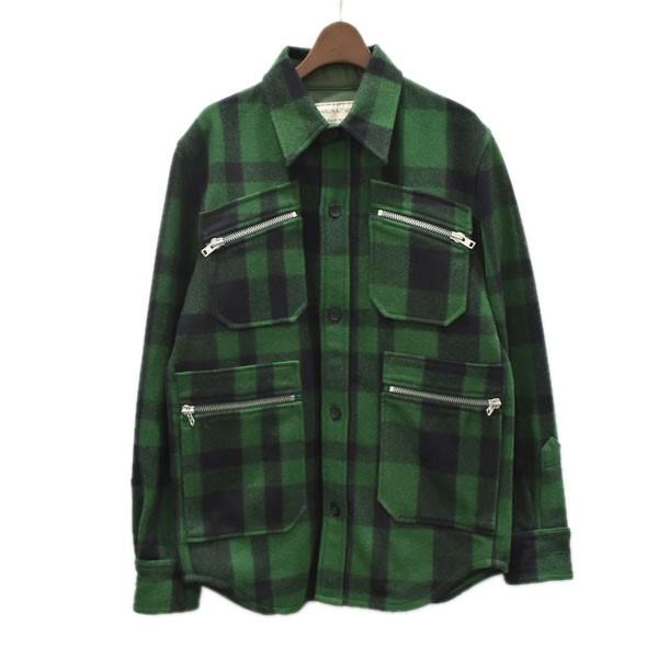 最上の品質な 【】MAISON KITSUNE 14AW チェックジャケット【】MAISON グリーン×ブラック サイズ:M【201120 サイズ:M】(メゾンキツネ), こもれび工房:b2bf1ec5 --- delipanzapatoca.com