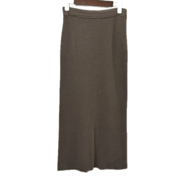 ドゥーズィエム クラス セール品 中古 MUSE de Deuxieme Classe19AW サイズ:- 信頼 CAPRI スカート 19080500427030 ブラウン RIB 1月7日見直し