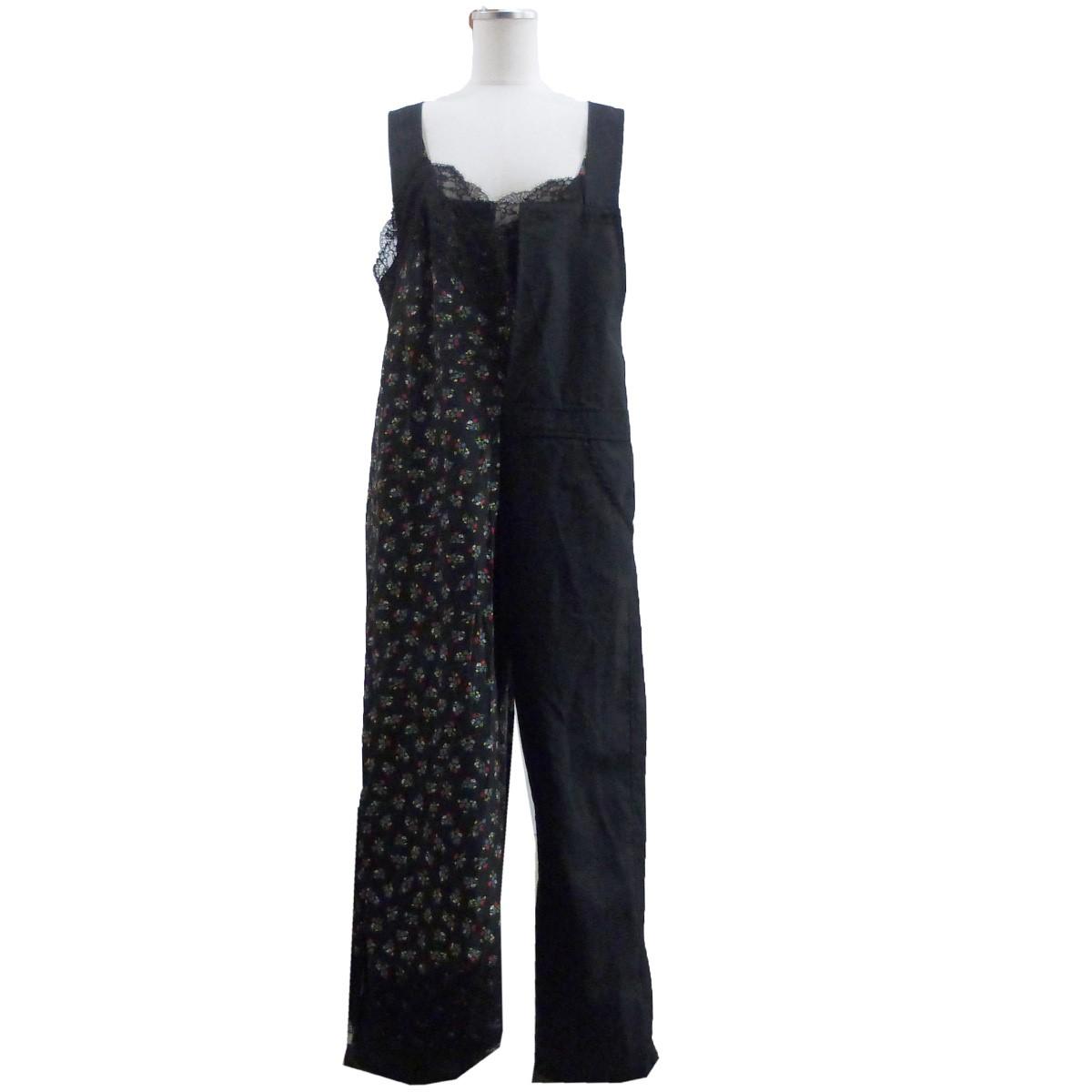 ジュンヤワタナベコムデギャルソン 中古 JUNYA WATANABE COMME des GARCONS 高品質 091220 売り込み ブラック サイズ:XS スカーフ付オールインワン 19AW