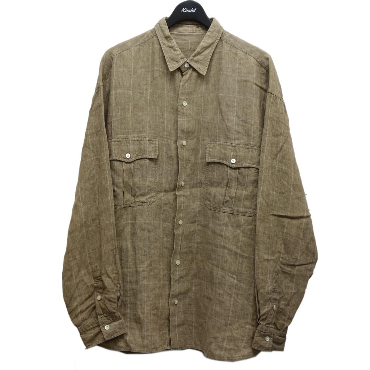 ポータークラシック 中古 完売 Porter Classic Linen アイテム勢ぞろい Roll Shirt 111220 Up リネンロールアップシャツ ベージュ サイズ:XXL