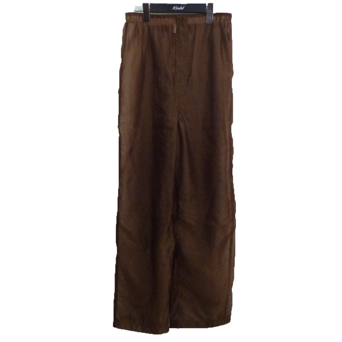 【中古】6(ROKU)BEAUTY & YOUTH UNITED ARROWS 19SS 「SUKE PANTS」透けパンツ ブラウン サイズ:38 【131220】(ロク ビューティーアンドユース ユナイテッドアローズ)