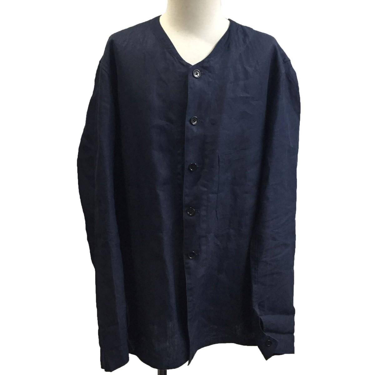 アナトミカ 割引も実施中 中古 anatomica SAVOYARDE 激安通販販売 サイズ:L リネンシャツジャケット 161220 ネイビー
