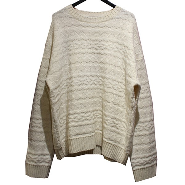タカヒロミヤシタザソロイスト 中古 供え TAKAHIROMIYASHITA TheSoloIst. 20AW crew neck fair セーター 261220 lsle アイボリー 売れ筋ランキング sweater. サイズ:52 クルーネック