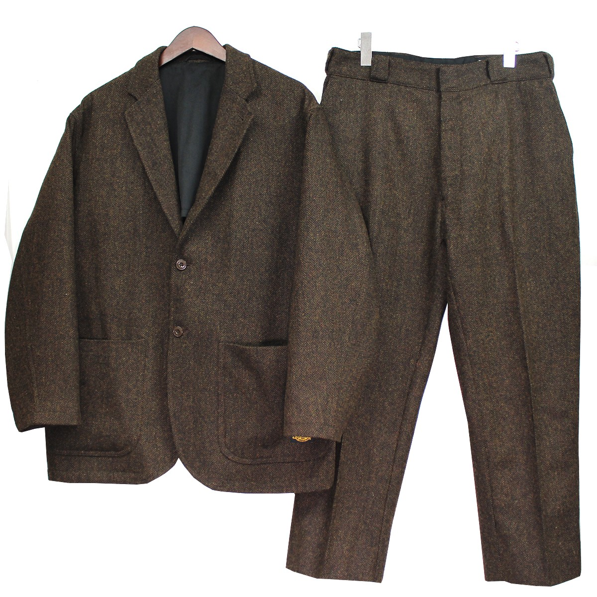 <title>トリップスター ディッキーズ ビームス 誕生日プレゼント 中古 TRIPSTER×Dickies×BEAMS 19AW ツイードセットアップ スーツ ブラウン サイズ:S L 291220</title>