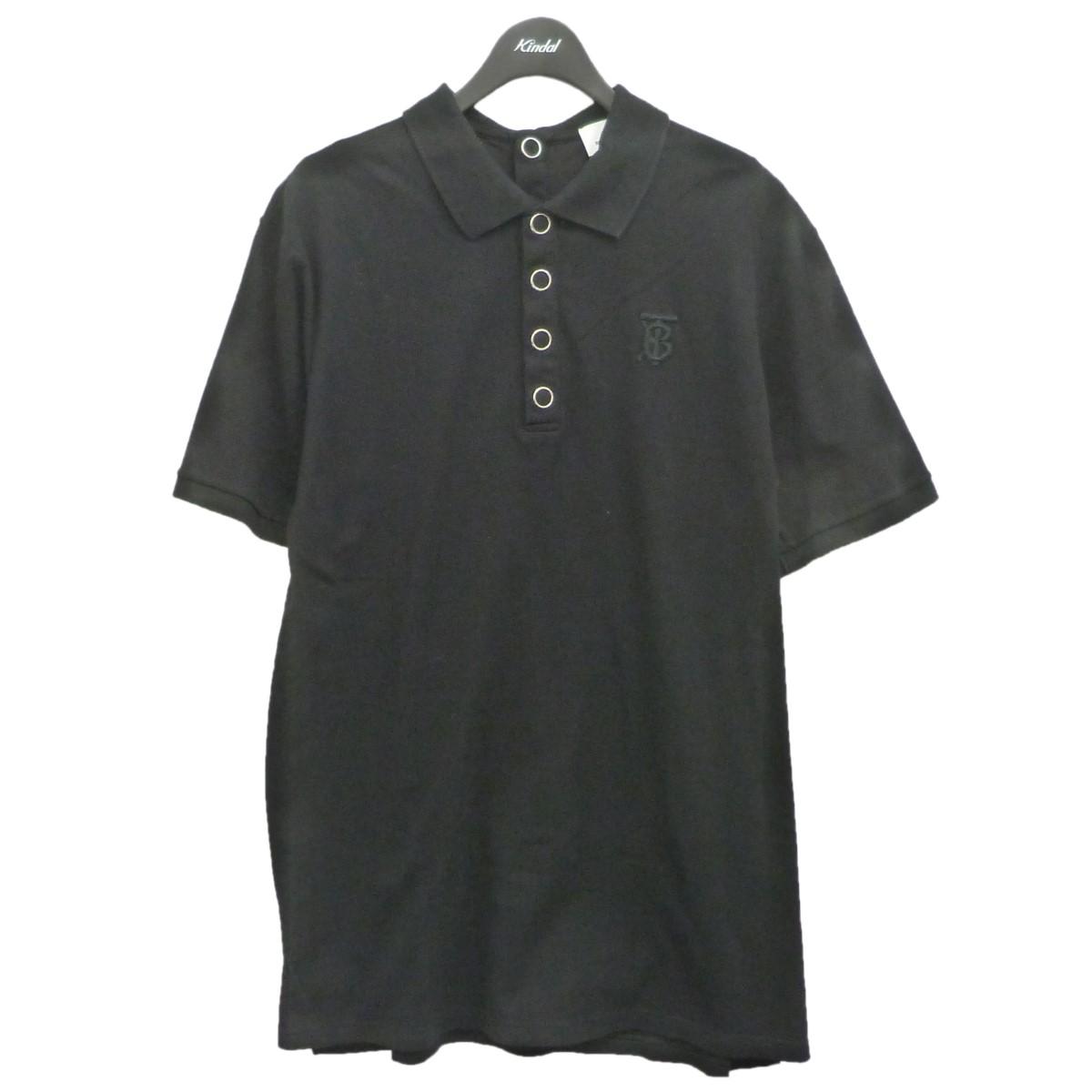 バーバリー 中古 お気にいる BURBERRY メーカー公式ショップ スナップボタンポロシャツ ブラック 020121 サイズ:L