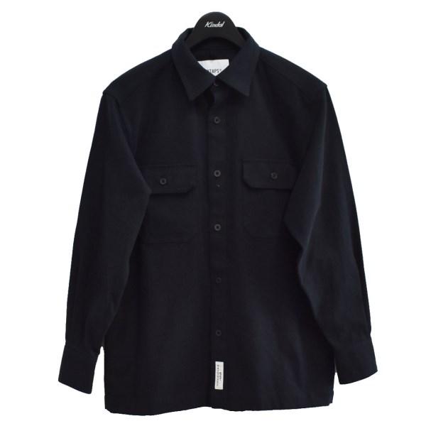 ダブルタップス 中古 WTAPS メーカー直送 20AW UNION 超定番 LS COTTON. 040121 ネイビー FLANNEL サイズ:01 ワークシャツ