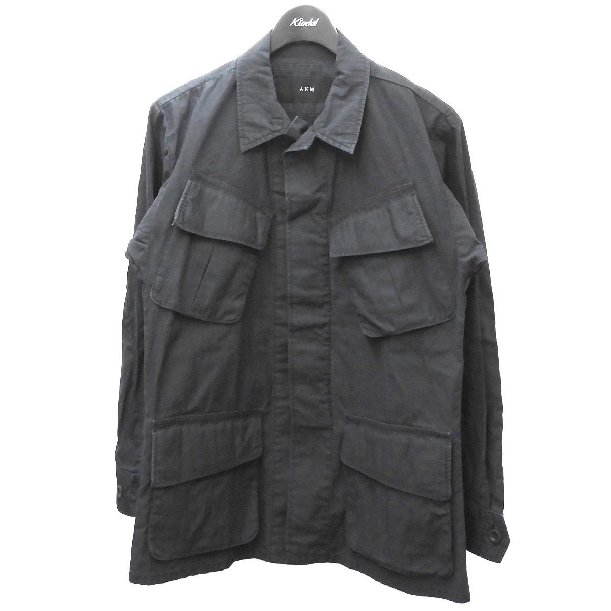 【まとめ買い】 AKM 「US JUNGLE FATIGUE JKT」ミリタリージャケット ブラック サイズ:M 【090121】(エイケイエム), 家具インテリア通販 アットカグ b93e6d09