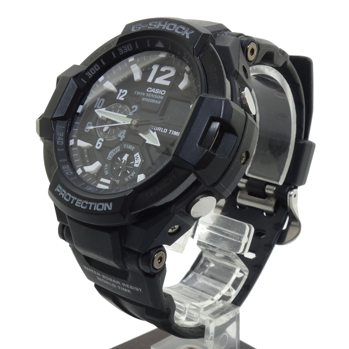 品質が完璧 CASIO GRAVITYMASTER 腕時計 ブラック 【100121】(カシオ), 新未来創造 8a0e421e