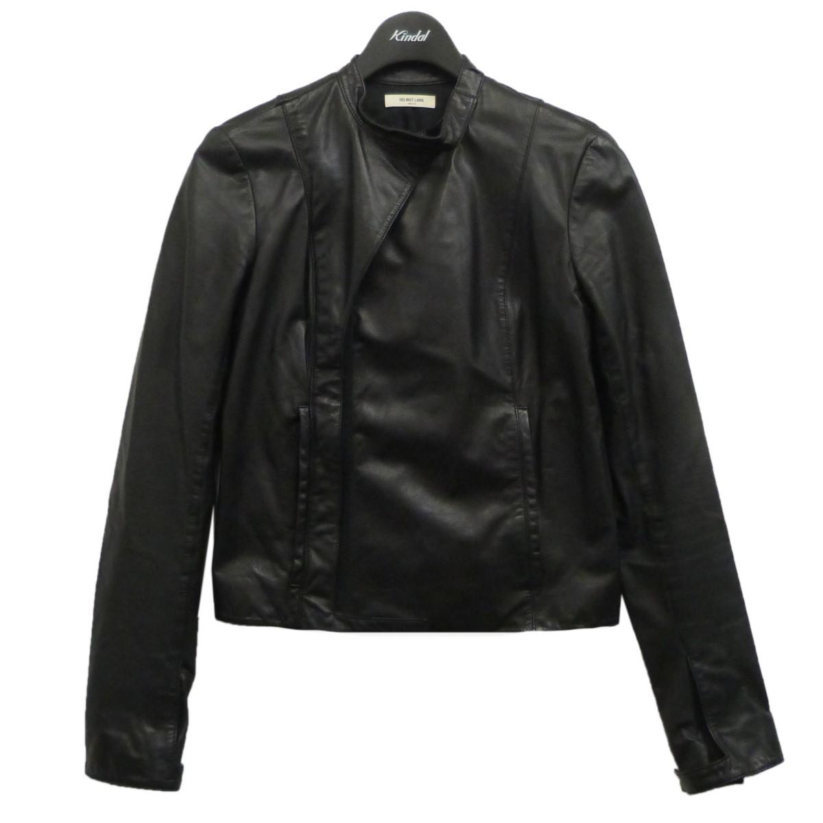 【着後レビューで 送料無料】 HELMUT LANG レザーライダースジャケット ブラック サイズ:S 【100121】(ヘルムートラング), S4R 3d9903b2