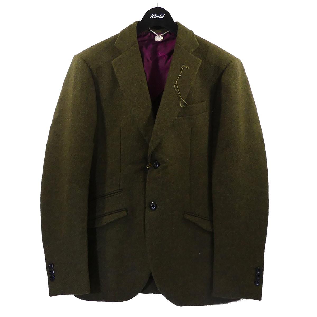 マウリッツォミリ 中古 Maurizio Miri 18AW ウールテーラードジャケット 人気ブランド多数対象 オリーブ 180121 マーケティング サイズ:48 DUSTIN