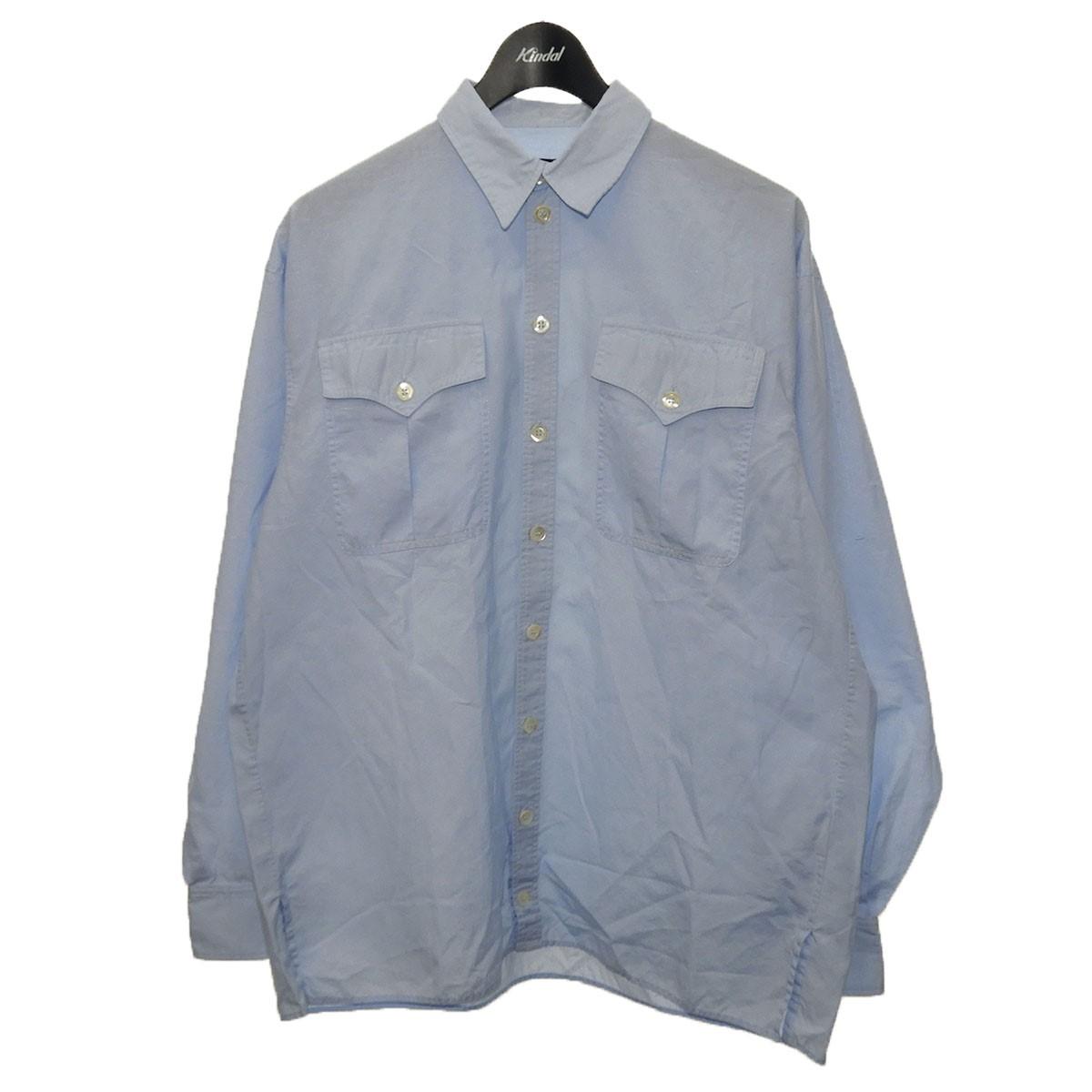 ワイプロジェクト 中古 公式ストア Y.PROJECT 海外輸入 レイヤードデザインシャツ 090221 サックスブルー サイズ:XL
