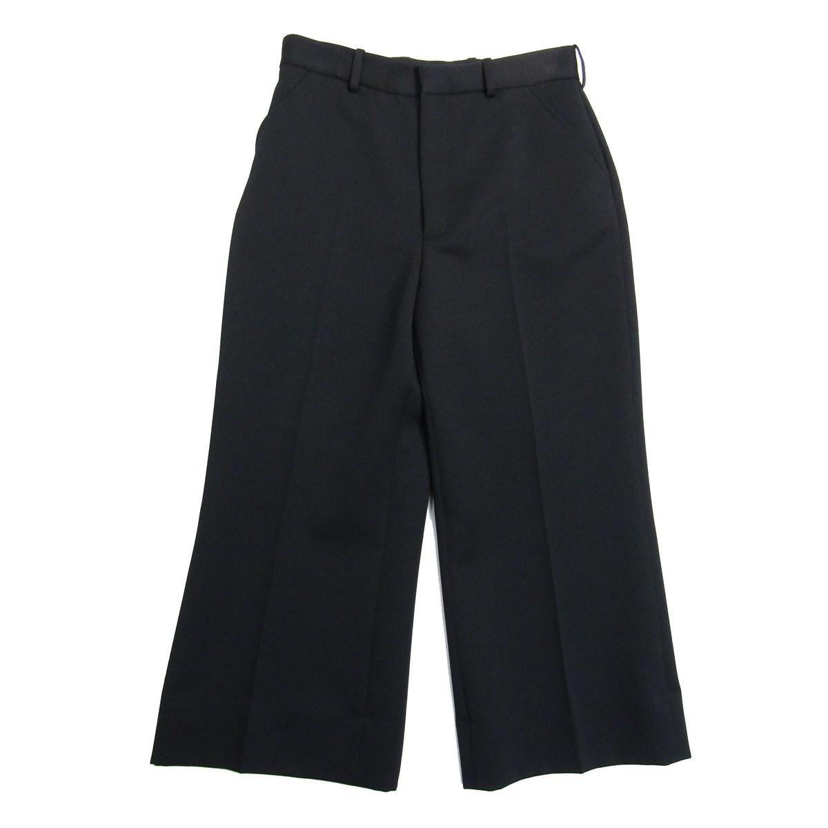 マルタンマルジェラ 4 中古 Martin 高額売筋 Margiela 2020SS wide leg and サイズ:38 length pants 140221 cropped ワイドパンツ WEB限定 a ブラック