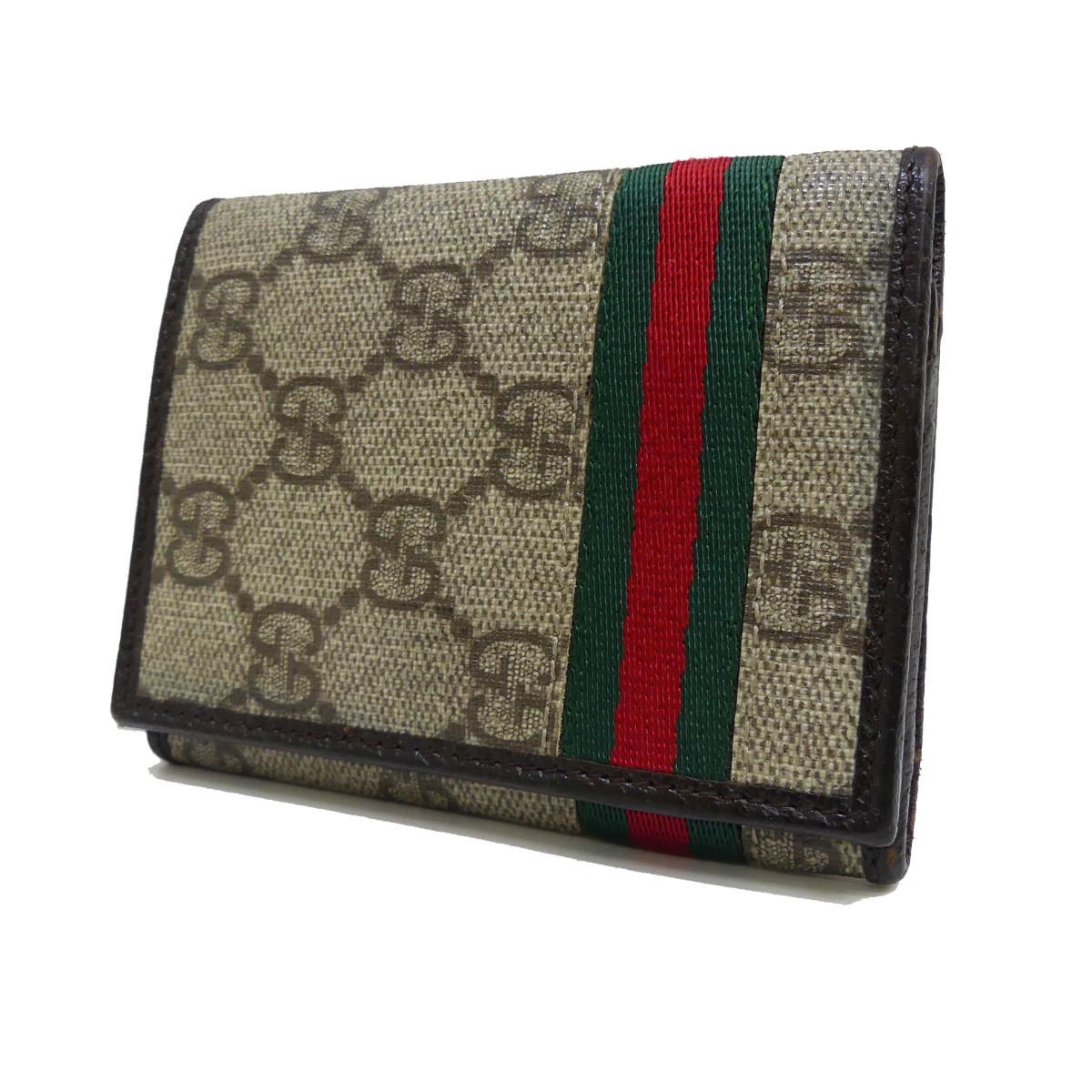 グッチ 中古 GUCCI GGキャンバス ベージュ カードケース ファッション通販 160221 予約販売品 ウェブライン