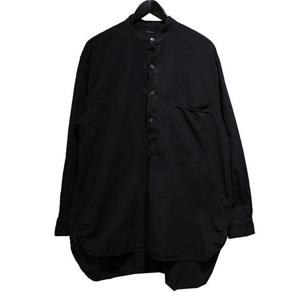 コモリ 中古 COMOLI 19SS プレゼント ベタシャン ブラック プルオーバーシャツ サイズ:3 210221 春の新作シューズ満載