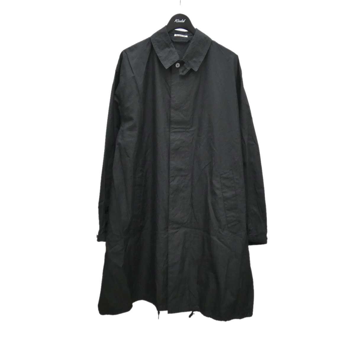 新作製品、世界最高品質人気! タイム オーラリー×ビームス 中古 AURALEE×BEAMS Finx Cotton Silk Chambray 080321 サイズ:4 Collar ブラック Big Soutien 激安通販ショッピング Coat